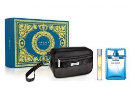 Zestaw prezentowy dla mężczyzn Versace Man Eau Fraiche woda toaletowa 100ml + woda toaletowa 10ml + kosmetyczka