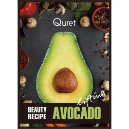 Quret Beauty Recipe Mask Avocado (W) liftingująca maska z ekstraktem z awokado 25g