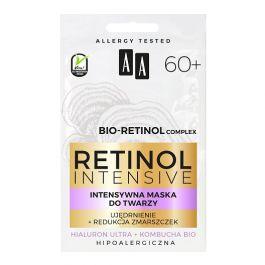 AA Retinol Intensive 60+ (W) intensywna maska do twarzy Ujędrnienie + Redukcja zmarszczek 2 x 5ml