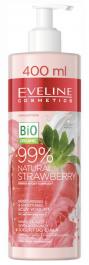Eveline Cosmetics 99% Natural Strawberry (W) nawilżająco - wygładzający jogurt do ciała 400ml