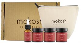 Mokosh Travel Set Żurawina (W) peeling solny 30ml + masło do ciała 30ml + balsam do ciała 30ml + odżywczy eliksir do ciała 10ml + kosmetyczka