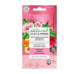 Eveline Cosmetics Natural Clay Herbs (W) nawilżająco - rozświetlająca biomaseczka z Różową Glinką 8ml