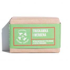 Mydlarnia Cztery Szpaki (W) naturalne mydło z peelingiem Truskawka i Werbena 110g