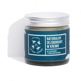 Mydlarnia Cztery Szpaki (M) naturalny dezodorant w kremie bezzapachowy z Ziemią Okrzemkową 60ml