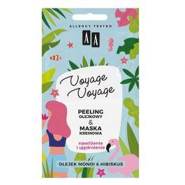 AA Voyage Voyage Nawilżenie & Ujędrnienie (W) peeling olejowy + maska Olej monoi & Hibiskus 2 x 5ml