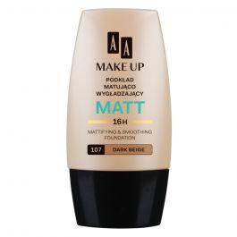AA Make Up Matt (W) podkład matująco-wygładzający 107 Dark Beige 30ml