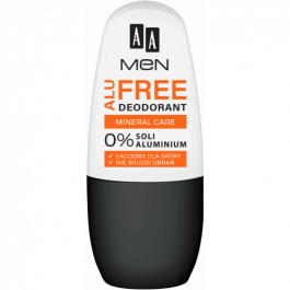 AA Men Alu Free Mineral Care (M) mineralny antyperspirant w kulce 50ml