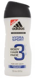 Adidas Hydra Sport 3w1 żel pod prysznic dla mężczyzn 250ml
