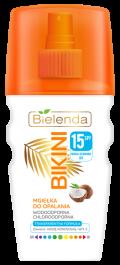 Bielenda Bikini SPF15 (W) kokosowa mgiełka do opalania 150ml