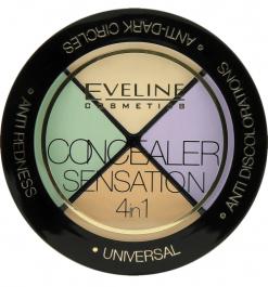 Eveline Cosmetics Concealer Sensation 4in1 (W) zestaw 4 korektorów 4,4g