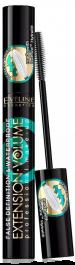 Eveline Cosmetics Extension Volume 4D Mascara Waterproof (W) wodoodporny tusz do rzęs Black 10ml