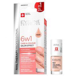 Eveline Cosmetics Nail Therapy Professional 6w1 Care & Colour (W) odżywka do paznokci nadająca kolor Nude 5ml