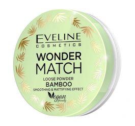 Eveline Cosmetics Wonder Match Loose Powder Bamboo (W) puder sypki bambusowy wygładzająco-matujący 6g