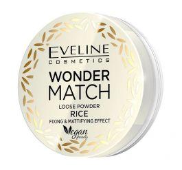Eveline Cosmetics Wonder Match Loose Powder Rice (W) puder sypki ryżowy utrwalająco-matujący 6g