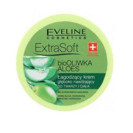Eveline Cosmetics Extra Soft (W) łagodzący krem głęboko nawilżający do twarzy i ciała Bio Oliwka i Aloes 175ml
