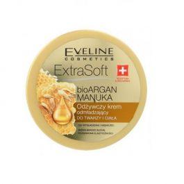 Eveline Cosmetics Extra Soft (W) odżywczy krem odmładzający do twarzy i ciała Bio Argan i Olejek Manuka  175ml