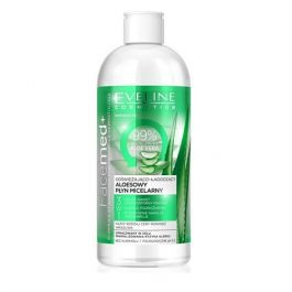 Eveline Cosmetics Facemed (W) aloesowy płyn micelarny 3w1 odświeżająco łagodzący 400ml