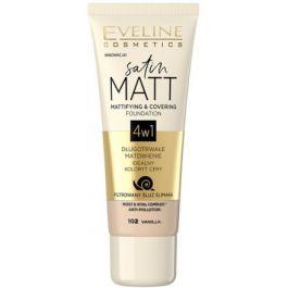 Eveline Cosmetics Satin Matt Foundation (W) podkład matujący 102 Vanilla 30ml