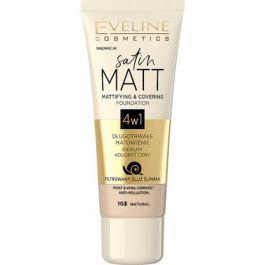 Eveline Cosmetics Satin Matt Foundation (W) podkład matujący 103 Natural 30ml