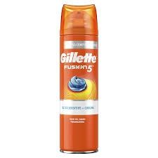 Gillette Fusion 5 Ultra Sensitive Cooling (M) żel do golenia 200ml