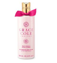 Grace Cole White Rose & Lotus Flower Body Lotion (W) balsam do ciała 300ml