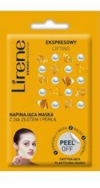 Lirene Ekspresowy Lifting Peel Off (W) napinająca maska z 24k złotem i perłą 10g