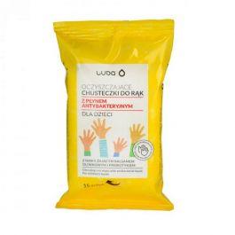 Luba Oczyszczające chusteczki do rąk z płynem antybakteryjnym dla dzieci 15 szt.