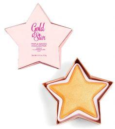 Makeup Revolution I Heart Star of the Show Highlighter (W) rozswietlacz do twarzy Gold Star 3,5g