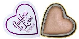 Makeup Revolution I Love Makeup Heart Highlighter (W) rozświetlacz do policzków Goddess Of Love 10g
