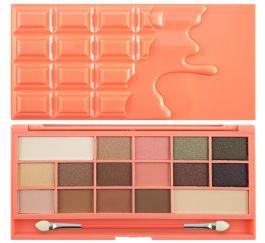 Makeup Revolution I Love Makeup Palette (W) paleta 16 cieni do powiek Chocolate and Peaches 22g
