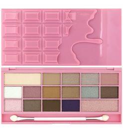 Makeup Revolution I Love Makeup Palette (W) paleta 16 cieni do powiek Chocolate Pink Fizz 22g