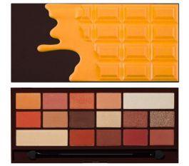 Makeup Revolution I Love Makeup Palette (W) paleta 16 cieni do powiek Orange Chocolate 22g
