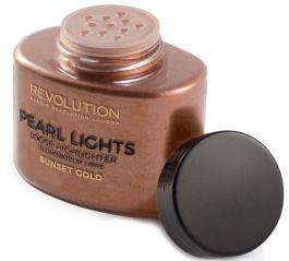 Makeup Revolution Pearl Lights Loose Highlighter (W) rozświetlacz do twarzy Sunset Gold 25g