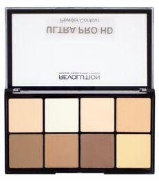 Makeup Revolution Pro HD Powder Contour (W) paleta do konturowania twarzy Fair 20g