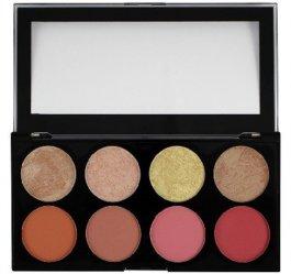 Makeup Revolution Ultra Blush & Contour Palette (W) paleta 8 róży i bronzerów do policzków Blush Goddess 13g