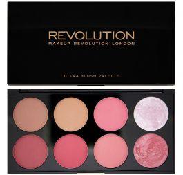 Makeup Revolution Ultra Blush & Contour Palette (W) paleta 8 róży i bronzerów do policzków Sugar And Spice 13g