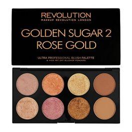 Makeup Revolution Ultra Blush & Contour Palette (W) paleta 8 róży i bronzerów do policzków Golden Sugar 2 Rose Gold 13g