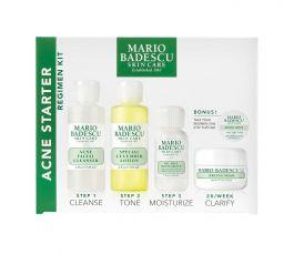 Mario Badescu Acne Starter Kit dla kobiet tonik 59ml + lotion 59ml + emulsja nawilżająca 29ml + maska 14g + próbka kremu