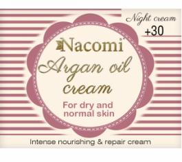 Nacomi Argan Oil Cream 30+ (W) krem do twarzy na noc Arganowy 50ml