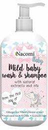 Nacomi Baby  łagodna emulsja do mycia ciała i włosów dla dzieci 400ml