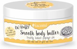 Nacomi Smooth Body Butter (W) lekkie masło do ciała Świeże Ciasto z Papayą 100g