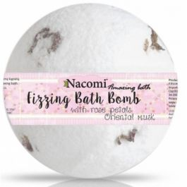 Nacomi Fizzing Bath Bomb (W) półkula musująca do kąpieli Rose Petals & Musk 51g