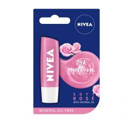 Nivea Lip Soft Rose Lip Balm (W) pomadka do ust 4,8g