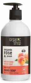 Organic Shop Rose Peach Hand Soap (U) mydło do rąk 500ml