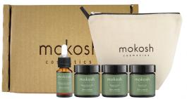 Mokosh Travel Set Melon z Ogórkiem (W) peeling solny 30ml + masło do ciała 30ml + balsam do ciała 30ml + odżywczy eliksir do ciała 10ml + kosmetyczka