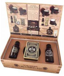 Zestaw prezentowy dla mężczyzn Dear Barber Collection II Groom & Go  olejek do brody 30ml + wosk do wąsów 25ml + woda toaletowa 30ml