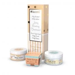 Zestaw prezentowy dla kobiet Nacomi Sunny Orange Sorbet (W) peeling do twarzy i ust 80g + masło do ciała 100ml + peeling do ciała 200g