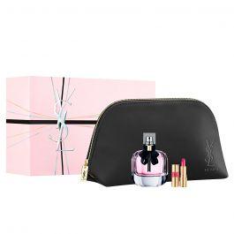 Zestaw prezentowy dla kobiet Yves Saint Laurent Mon Paris  woda perfumowana 90ml + pomadka mini rouge volupte shine N49 1,4ml + kosmetyczka