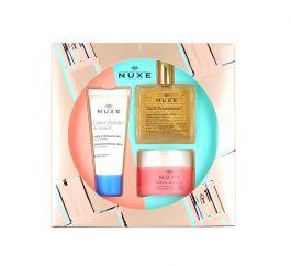 SET Nuxe Bestsellers (W) maska złuszczająca 50ml + suchy olejek 50ml + krem do twarzy 30ml