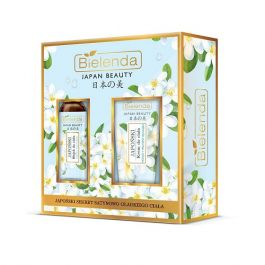 Zestaw prezentowy Bielenda Japan Beauty (W) krem do ciała Monoi - Proteiny Jedwabiu 200ml + olejek do ciała Jaśmin + Olej Tsubaki 150ml